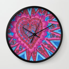 Heartburst Caged Wall Clock