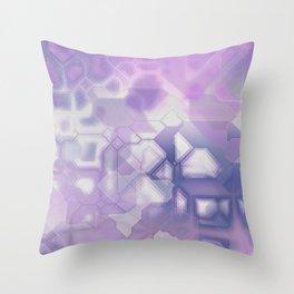future fantasy snow cover Throw Pillow