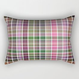 Pink Roses in Anzures 1 Plaid 2 Rectangular Pillow