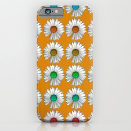 Photographic Daisy Pattern Brights iPhone Case