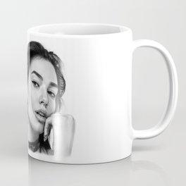 Dua Lipa Pencil Drawing Coffee Mug