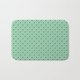 Studded Double Polka stud on Mediterranean Mint 1@50 Bath Mat