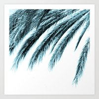 palm Art Prints featuring palm by Sweet Karalina