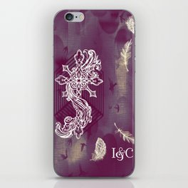 Gothic Cross: purple iPhone Skin