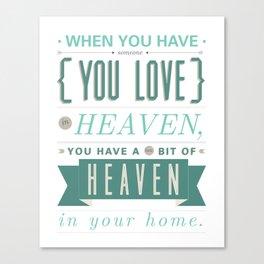 Someone In Heaven-BLUE Canvas Print