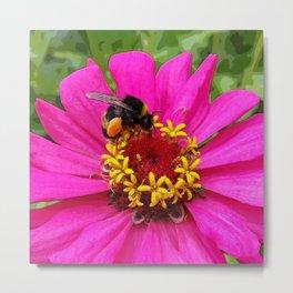 bumblebee at work Metal Print