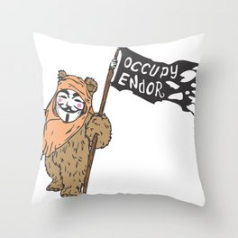 Occupy Endor Throw Pillow