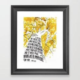 Mustard Seed Faith Tree - Matthew 17:20 Framed Art Print