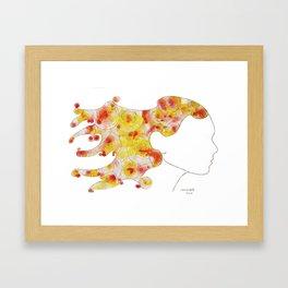 swirls - woman Framed Art Print