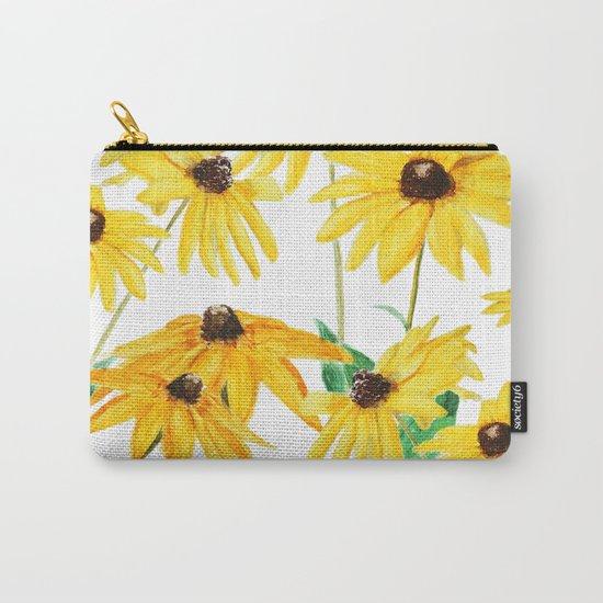yellow sun choke flower Carry-All Pouch