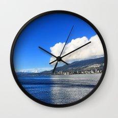 Blue vs. White Wall Clock