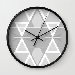 Geometric Muted Wall Clock