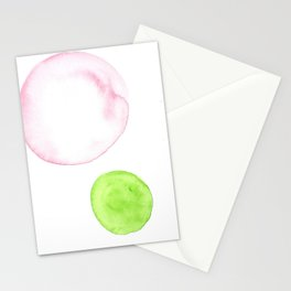 1510101 Watercolor Abstract Orbit 17 Stationery Cards