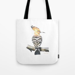 The Eurasian hoopoe (Upupa epops) Tote Bag