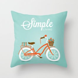 Simple Living, Ride Throw Pillow
