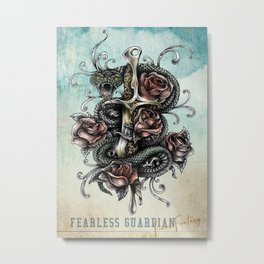Fearless Guardian Metal Print