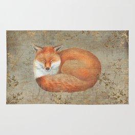 Red fox among thorns Rug