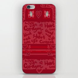 Heart Design iPhone Skin