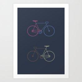 Love your bike Art Print