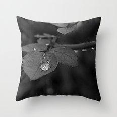 Tear Drop Black & White  Throw Pillow