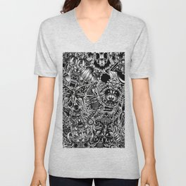 Floral animals Unisex V-Neck
