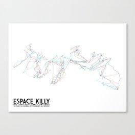 Espace Killy, Savoie, FRA - European Edition - Minimalist Trail Art Canvas Print