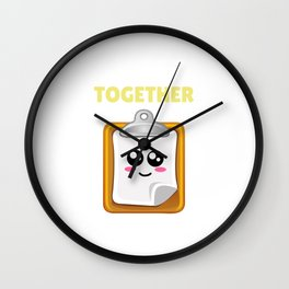I'm Just Trying To Hold It Together Funny Clipboard Pun Wall Clock