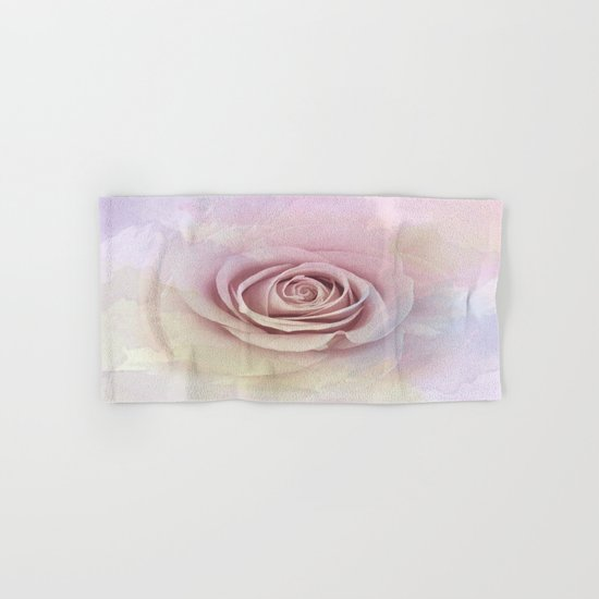 Forever My Love Pink Rose Abstract Hand & Bath Towel
