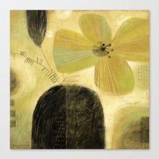FLOWER & DARK VASE Canvas Print