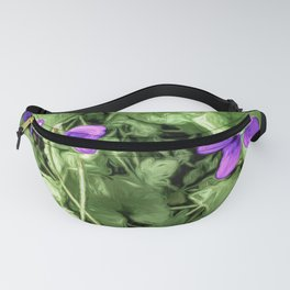 Wild Violets With Attitude Fanny Pack
