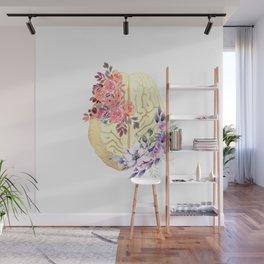 Floral Brain Anatomy  Wall Mural