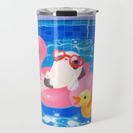 Cory cats in the swimming pool 2 Travel Mug