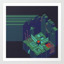 Cutoff Frequency #1: Meet Me In The Meet-Me-Room Art Print