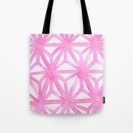 Pink Asanoha Tote Bag