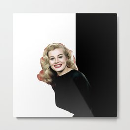 Anita Ekberg - Celebrity - Oil Paint Art Metal Print