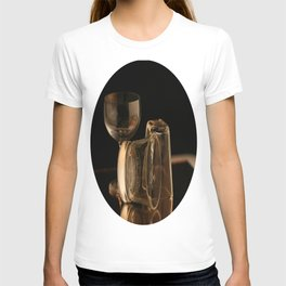 Glasses in Gold Tones T-shirt