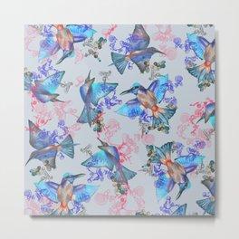 bee eaters pattern Metal Print