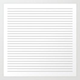 White Black Lines Minimalist Art Print