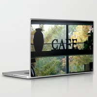 cafe Laptop & iPad Skins featuring Cafe by Kasia Wo