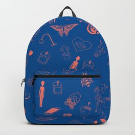 Blue Eclectic Pattern Backpack