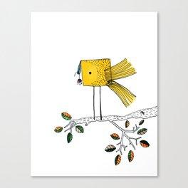 Nosy Bird Canvas Print