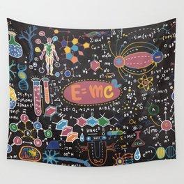 Scientific blackboard Wall Tapestry