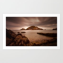 Mumbles lighthouse Swansea Bay Art Print