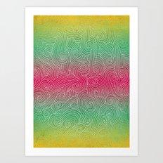 Rainbow Swirlies Art Print