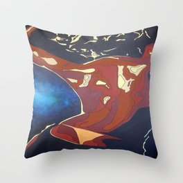 Backview of A Young Woman Dancing In A Night Club Throw Pillow