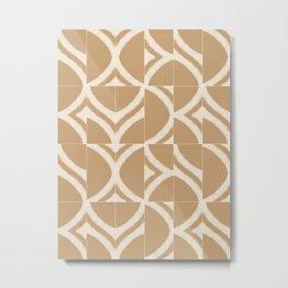 Rustic Sahara Messy Tiles Metal Print