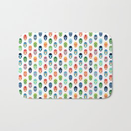 Lucha libre mask pattern Bath Mat