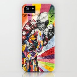 Times Square Kiss in Chelsea iPhone Case