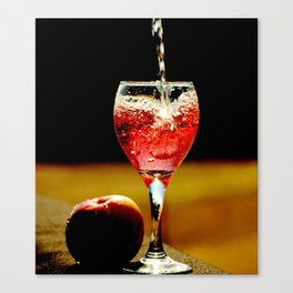 Wine and Apple Canvas Print