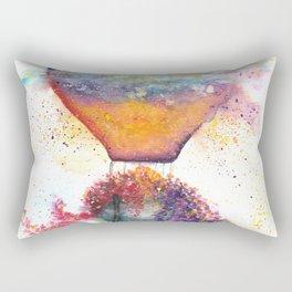 Hot Air Balloon on Fire Watercolor Rectangular Pillow